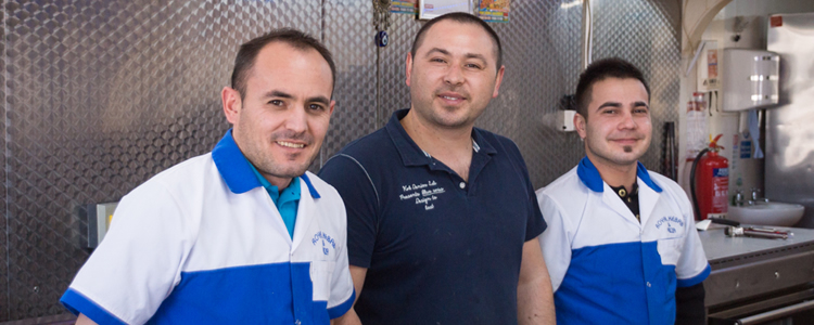 Team at Royal Kebab House, Winford